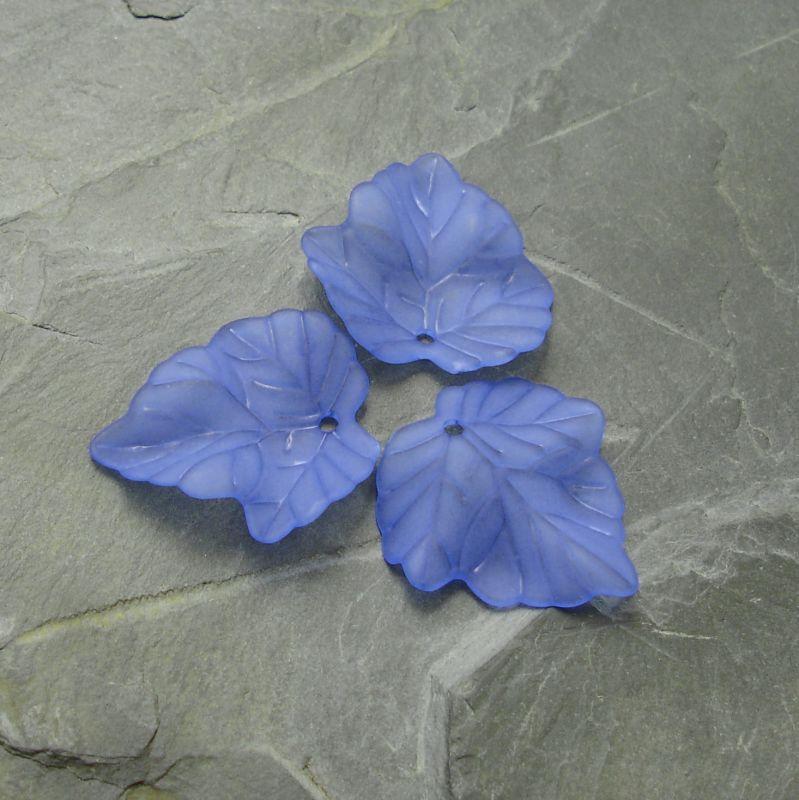 Akrylový lístek 24x23 mm - modrý