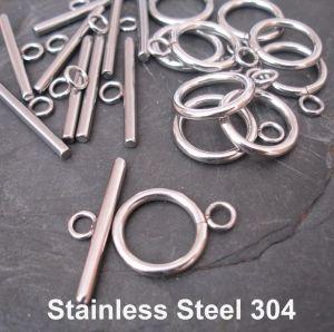 Americké zapínání 19x14mm - Stainless Steel 304