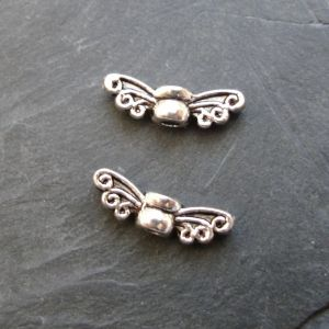 Zvětšit fotografii - Malá andělská křídla 14x4,5x3,5mm - starostříbrná
