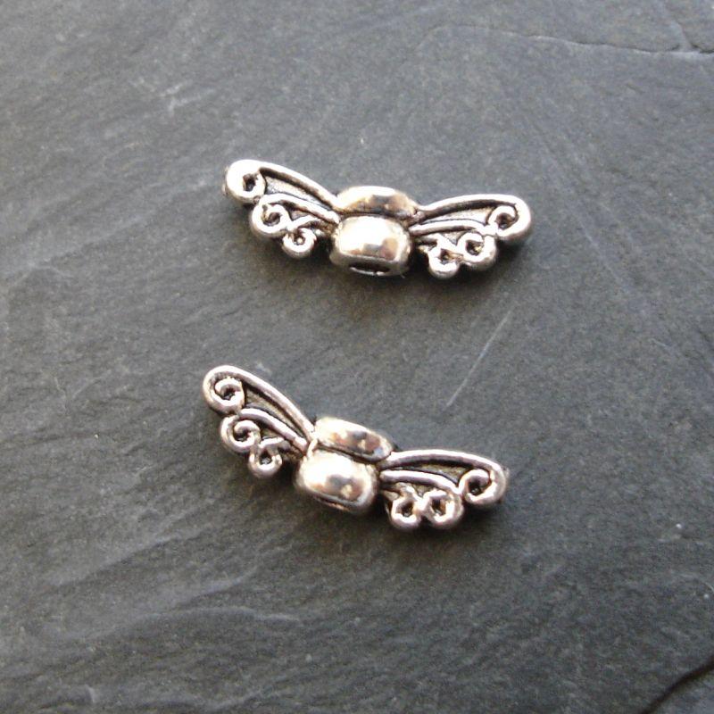 Andělská křídla mini 14x4,5x3,5mm - starostříbrná