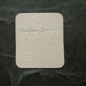 Bižuterní karta 44x50mm - krémová světlá