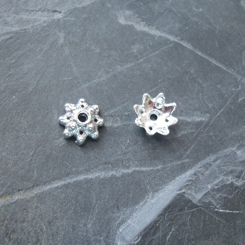Kaplík 9,5 mm - stříbrný