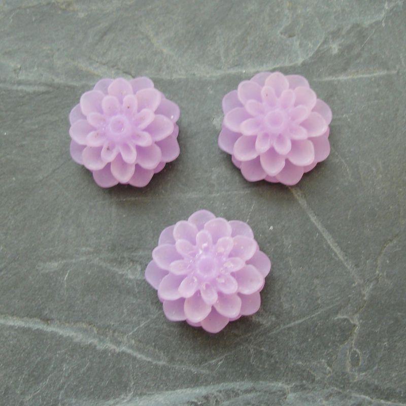 Kabošon chryzantéma 15mm - fialová