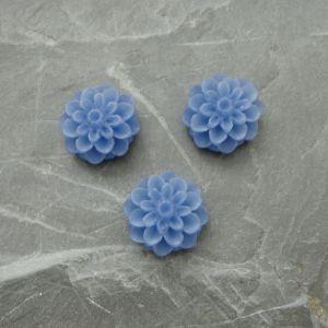 Kabošon chryzantéma 15mm - modrá