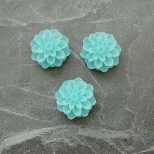 Kabošon chryzantéma 15mm - modrozelená