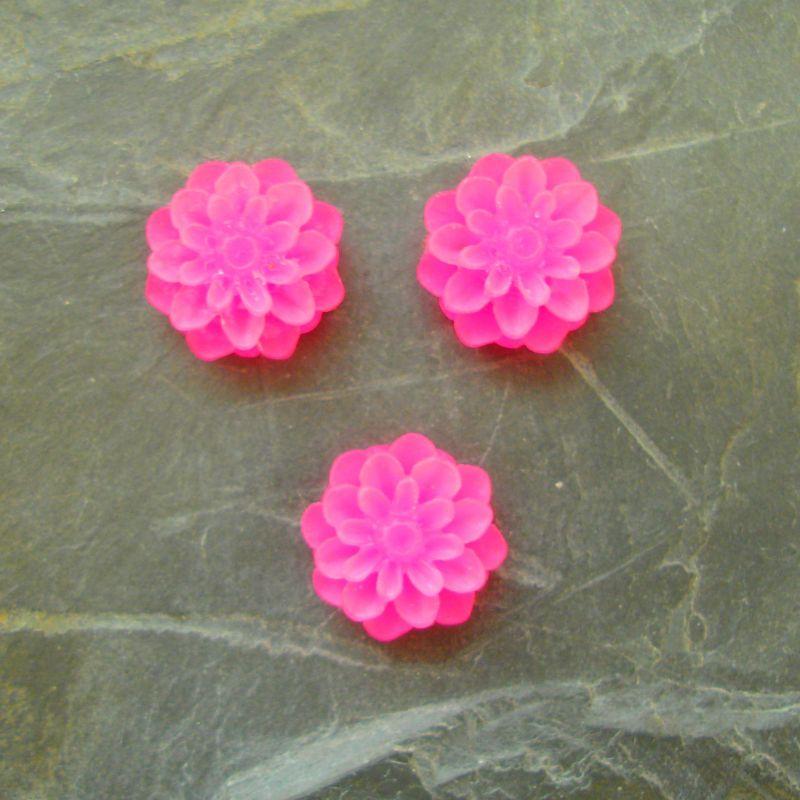 Kabošon chryzantéma 15mm - růžová