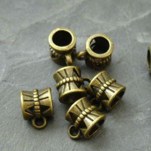 Kovový závěs 10x7x7mm - starobronzový