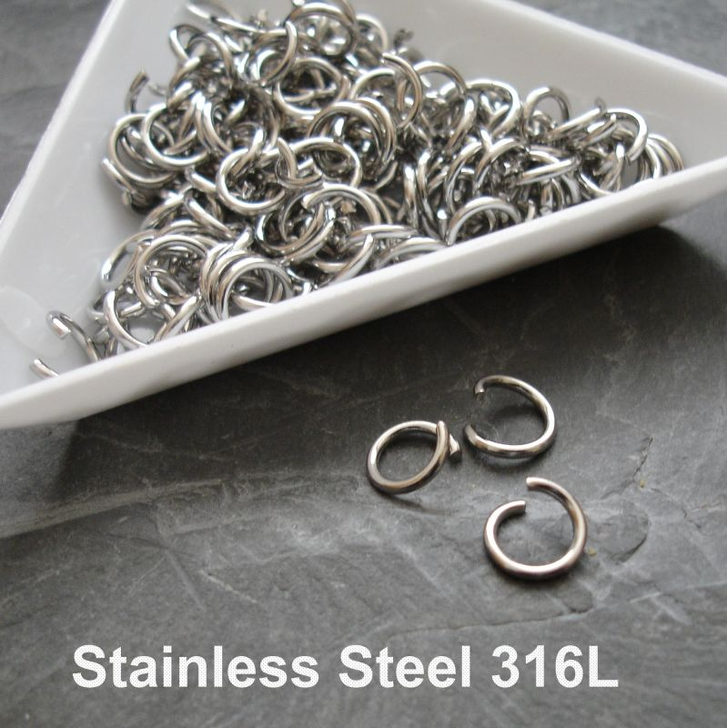 Kroužky spojovací 7mm - chirurgická ocel 316L (Stainless Steel)