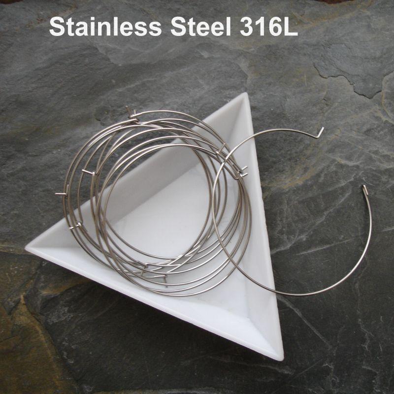 Kruhové náušnice 40x0,7 mm - chirurgická ocel 316L (Stainless Steel)