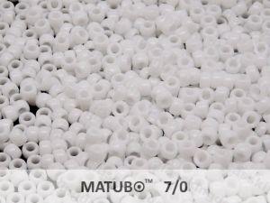 Mačkaný rokajl Matubo 7/0 - bílý - 5g