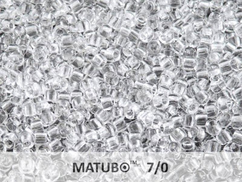 Mačkaný rokajl Matubo 7/0 - čirý - 5g