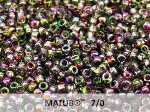 Mačkaný rokajl Matubo 7/0 - magic fial.,zel. - 5g