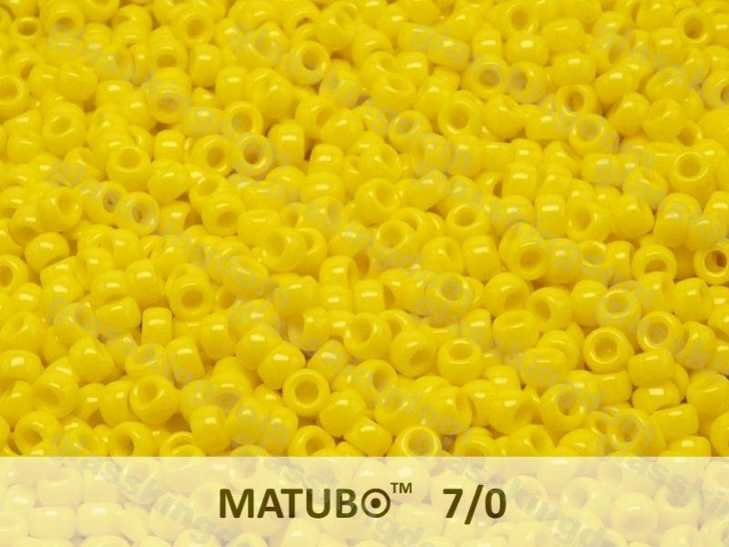 Mačkaný rokajl Matubo 7/0 - žlutý - 5g