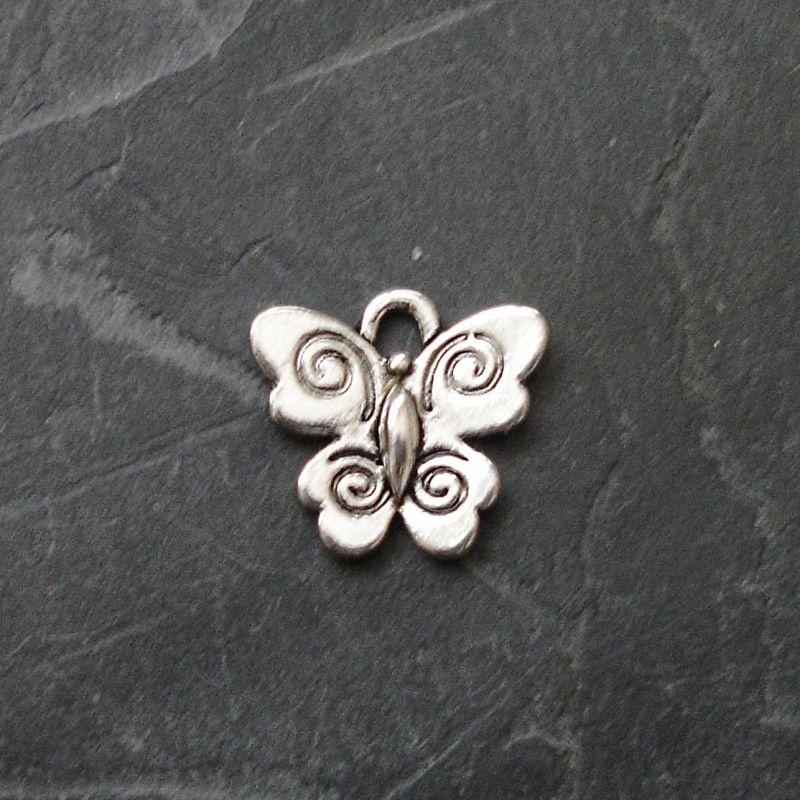 Přívěsek motýlek 14x12mm - starostříbrný