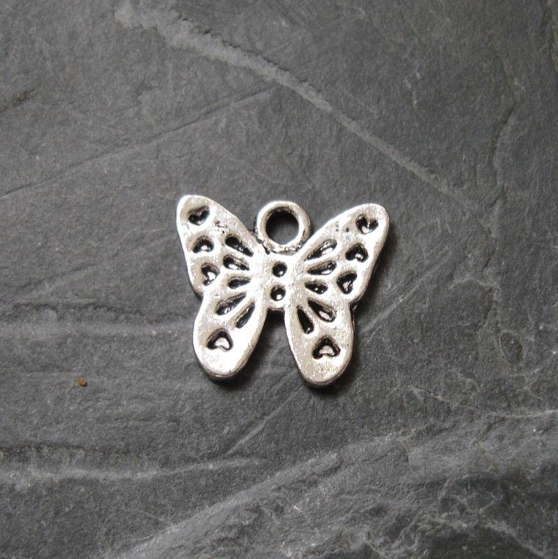 Přívěsek motýlek 14x13mm - starostříbrný