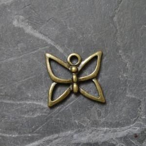 Zvětšit fotografii - Přívěsek motýlek 16x15mm - starobronzový