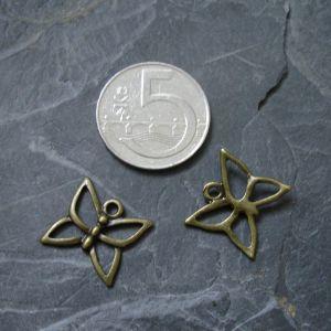 Přívěsek motýlek 16x15mm - starobronzový