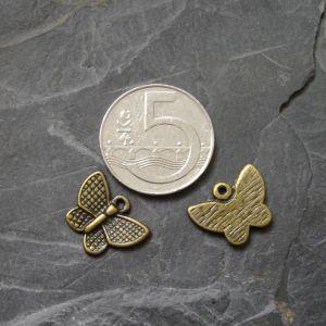 Přívěsek motýlek 17x12mm - starobronzový