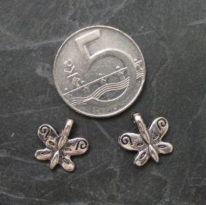 Přívěsek motýlek 19x19mm - starostříbrný