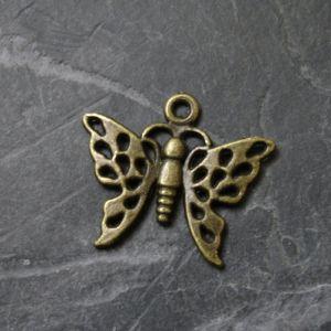 Přívěsek motýlek 20x19mm - starobronzový