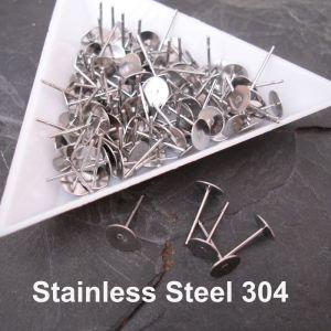 Puzety s ploškou 6mm - Stainless Steel 304