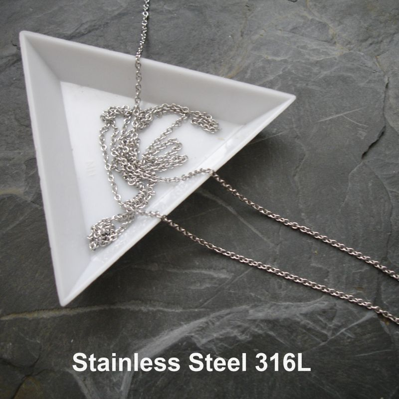 Řetízek 1,8x1,5mm chirurgická ocel 316L (Stainless Steel)