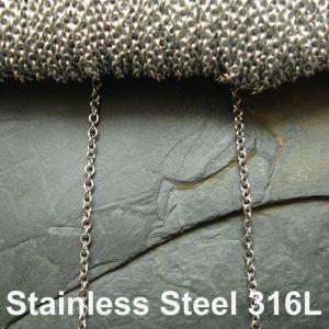 Řetízek 2,8x2,45mm - Stainless Steel 316L