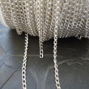 Řetízek cca 3x5mm - stříbrný