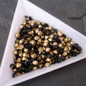 Skleněné šatony cca 3,7 - 3,8 mm - černé