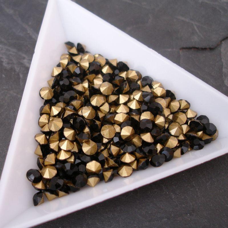 Šatony cca 3,7 - 3,8 mm - černé - 10 ks