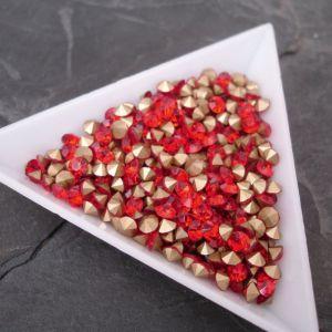 Skleněné šatony cca 3,7 - 3,8 mm - červené