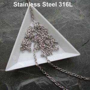 Řetízek 4x3mm - Stainless Steel 316L