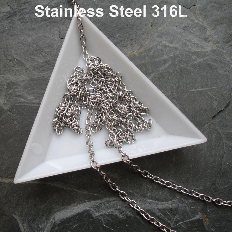 Řetízek 4x3mm chirurgická ocel 316L (Stainless Steel)