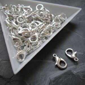 Karabinka 12mm - stříbrná