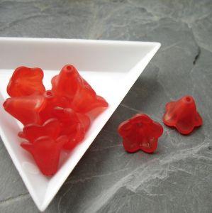 Akrylový zvoneček 14x10mm - červený