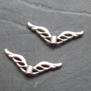 Andělská křídla 22x8mm - starostříbrná