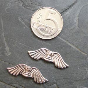 Andělská křídla 31x10mm - starostříbrná
