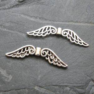 Andělská křídla 31x6mm - starostříbrná