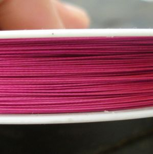 Bižuterní lanko 0,38mm - růžová