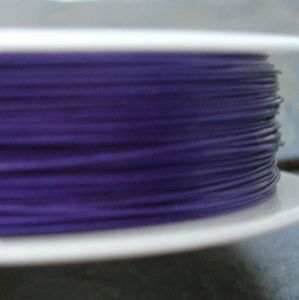 Bižuterní lanko 0,38mm - modré