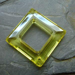 Plastový kosočtverec 29x29mm - žlutý