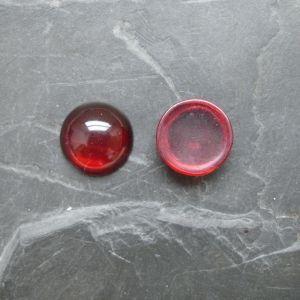 Kabošon kulatý 14mm - červený