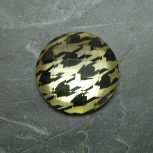 Kabošon kulatý 25mm - sv. žlutý