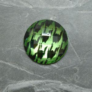 Kabošon kulatý 25mm - zelený