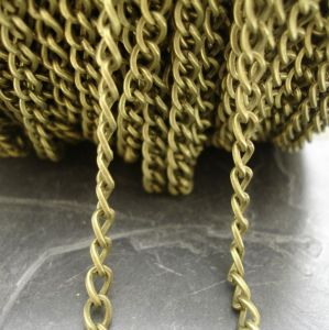 Řetízek twist cca 6x4,4mm - starobronzový