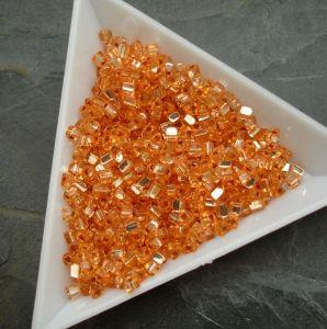 Rokajl oranžový - trojúhelníčky - cca 2,5x2,8mm - vel. 10/0 - 10g