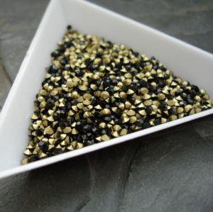 Skleněné šatony cca 2,1 - 2,2  mm - černé