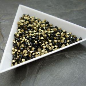 Skleněné šatony cca 2,4 - 2,5  mm - černé