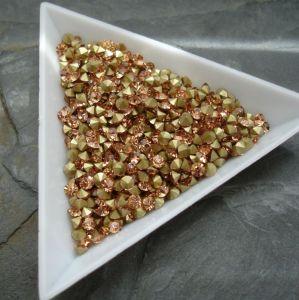 Skleněné šatony cca 2,9 - 3,0 mm - broskvové