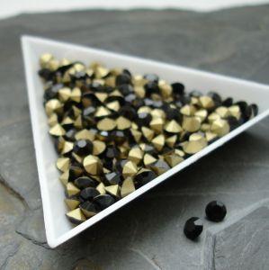 Skleněné šatony cca 4,0 - 4,2 mm - černé